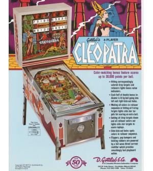 Schéma numérique Cleopatra 1977 (Gottlieb)